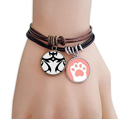 DIYthinker Womens Constellation Weegschaal Zodiac Teken Katten Armband Lederen Touw Polsband Paar Set