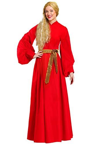 Fun Costumes - Disfraz de campesina (talla grande, 4 unidades), color rojo