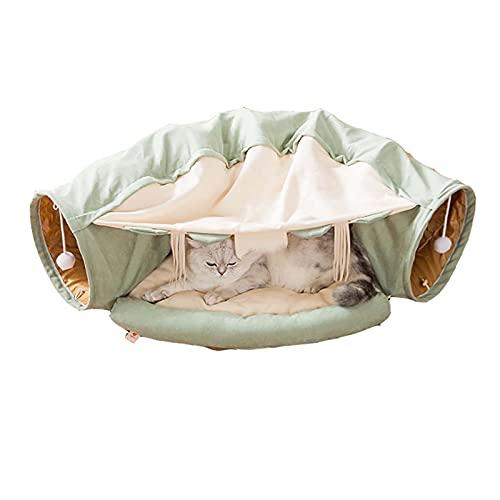 LJTT Cat Tunnel Cat Bed Rolling Suelo Dragon Channel Four Seasons Universal Funny Gato Juguete extraíble Cara de Gato Cat Supplies Mascotas