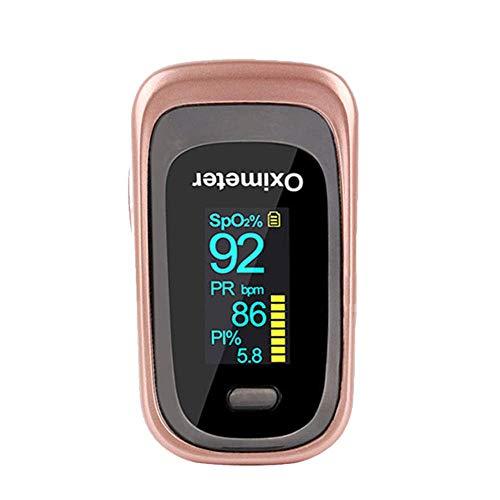 Oxímetro de pulso - MG Care Pro Series Nuevas funciones Modos Rata respiratoria, Spo2, PR con cordón y bolsa (Mystic Black) (black)