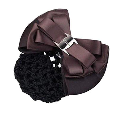 Filles Snood net Clip de cheveux Couvercle de coque Bow Barrette professionnel Coiffure, M