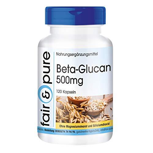 Beta-Glucan 500mg de avena, vegano, 100% natural, 120 cápsulas