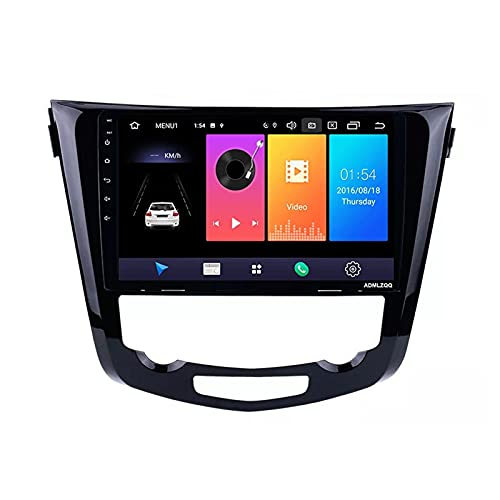 ADMLZQQ Android 10.0 Estéreo GPS Car Stereo Radio para Nissan Qashqai X-Trail 2013-2016, Navegación GPS 10.1 Pulgadas, FM/Bluetooth/Controles del Volante/Cámara De Visión Trasera,4 Core,WiFi: 2+32G