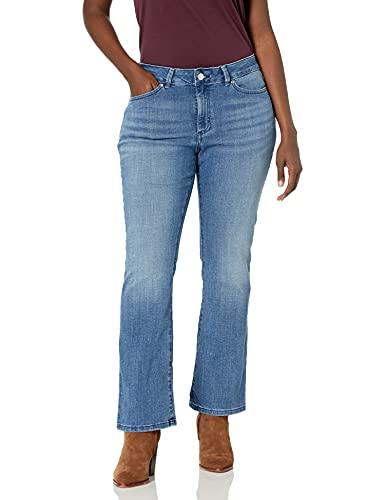 LEE Women's Modern Series Curvy Fit Bootcut Jean with Hidden Pocket, Majestic, 14 Short
