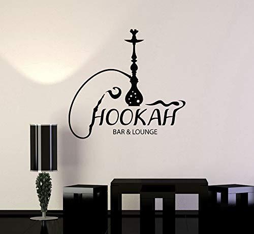 Shisha Bar Lounge Pvc Wandtattoo Shisha Arabisch Rauchen Cafe Aufkleber Wohnkultur Wohnzimmer Schaufenster Dekoration 45 * 42 Cm