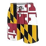 ZHXR Boys Swim Trunks Flag of Maryland Quick Dry Board Shorts...