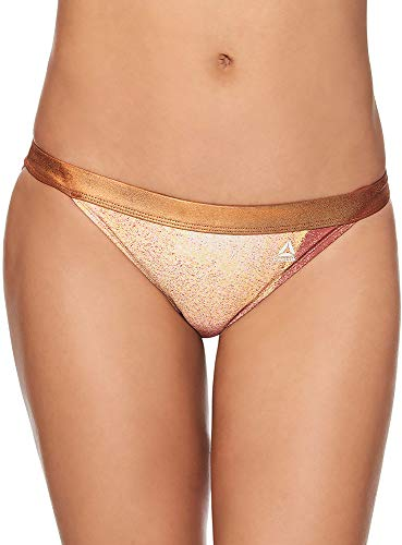 Reebok Lifestyle Women's Swimwear Le Femme Bathing Suit Bottom, Copper, XL