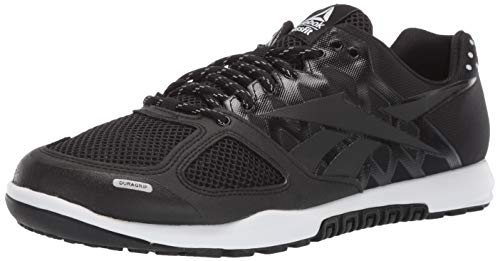 Reebok Men's CROSSFIT Nano 2.0 Cross Trainer, Black/White, 8.5 M US