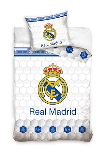 Ropa de cama del Real Madrid, 135 x 200 cm y 80 x 80 cm