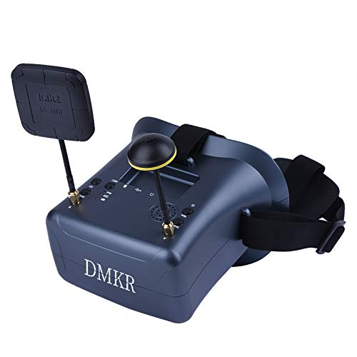 DMKR 008DPro FPV Goggles with DVR 5.8G 40CH 4.3 Inch 800x480 HD Video Headset Build in 2000mAh Battery with Three Antennas for FPV Racing Drone Quadcopters