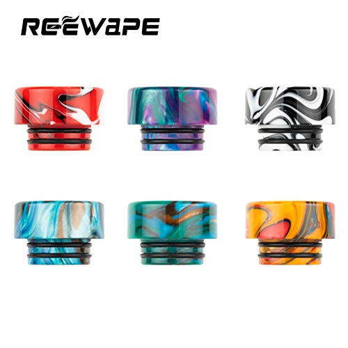 Satelliter 6pcs Drip Tip, 810 Drip Tip, Resin Drip Tip Connector for Ice Maker Coffee Mod, Random Color(Kit 1)