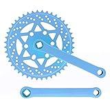 Riscko 007sml Juego De Bielas Bicicleta Personalizada Fixie Tallas S-m-l-l Urb Azul Claro