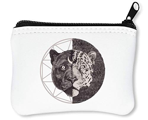 Double-Faced   Jungle   Tiger     Animal Collection   Cool T Shirt   Nice to     Osom   Popular   Funny   Swag   Joke   Yolo Reißverschluss-Geldbörse Brieftasche Geldbörse