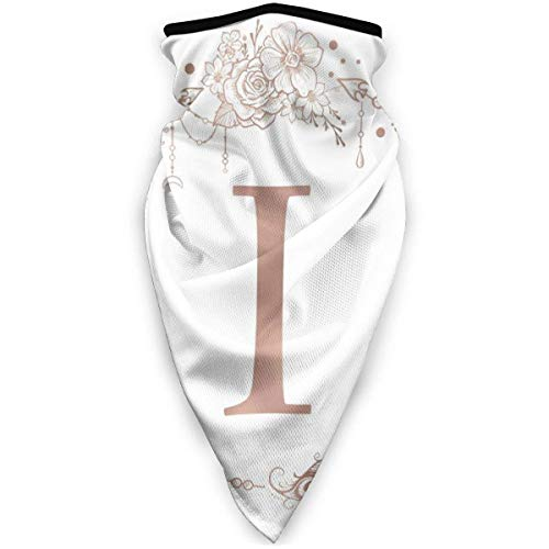 Not Applicable Half Face Scarf,Letter I Initial Monogram Head Scarf Premium for Tennis Bandana Neck Gaiters 24x52cm