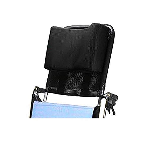 Apoyacabeza para silla de ruedas Soporte para el cuello Asiento cómodo Respaldo Cojín, Acolchado ajustable para adultos Accesorios de sillas de ruedas universales portátiles, 16 '-20', Negro
