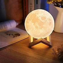 Luminaria 3D Touch Lua Cheia Abajur LED Decoracao USB RGB