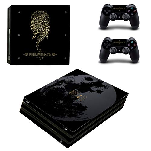 Adventure Games PS4 PRO - Final Fantasy XV, Limited Edition - Playstation 4 Vinyl Console Skin Decal Sticker + 2 Controller Skins Set