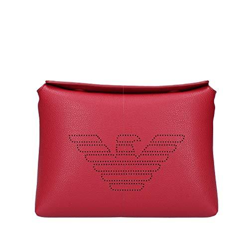 Emporio Armani - Correa de piel sintética Ruby Red Zen Blue Mod....