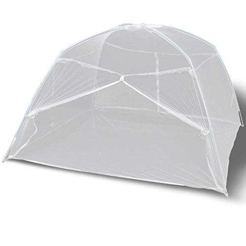 vidaXL Moustiquaire Blanc de Voyage 2 Portes 200 x 120 x 130 cm Moustiquaire de lit
