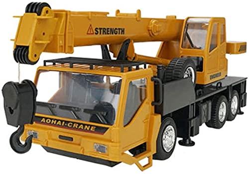 BHJH7 Control Remoto de grúa de camión RC 1:24, ingeniería de vehículos de construcción inalámbrica, Modelo de Juguete electrónico de Alta Resistencia, Hobby para niños