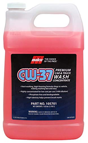 Malco CW-37 Concentrated, High Foaming Car Wash, 1 Gallon (105701)