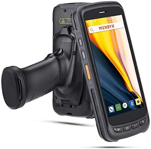 MUNBYN PDA Escáner de Código de Barras Android 8.1 Zebra 2D / 1D / QR, Pantalla táctil IPS FHD de 5.2 '', Terminal de Datos Resistente IP65, Terminal 4G WiFi BT GPS para almacén