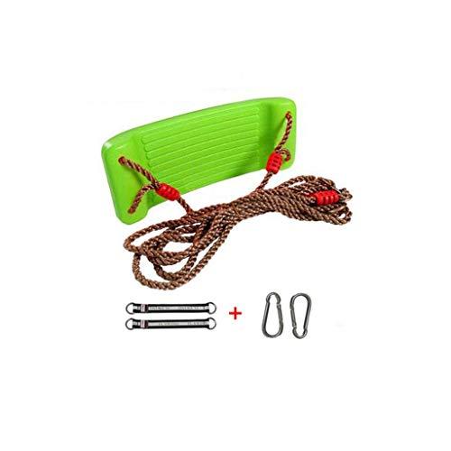 Columpio Repuesto para niños Asiento de Columpio con Cuerdas Ajustables en Altura Marco de Escalada Juguetes Deportivos para Interiores para Exteriores Asiento de Columpio Green
