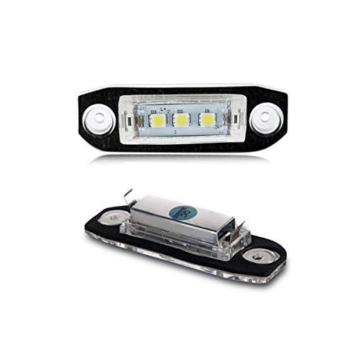 GOFORJUMP 2pcs lumière de Plaque d'immatriculation d'assemblage de Lampe de Licence de l'automobile LED pour V/olvo S40 S60 S80 XC70 XC60