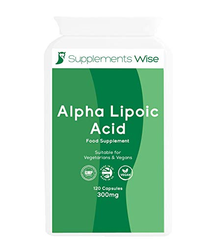 Alpha Lipoic Acid 300mg - 120 Capsules - Daily ALA Supplement with R-ALA and S-ALA - Improve Insulin Sensitivity - Maintain Blood Sugar and Healthy Glucose Metabolism - Powerful Antioxidant