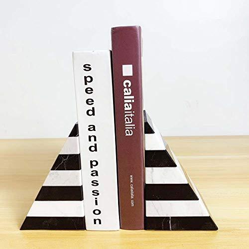 DLY Fashion minimalistische moderne Europese stijl lichte strepen van zwart en wit marmer mozaïek ornamenten boekensteun model kamer accessoires 90 * 90 * 155mm mooi