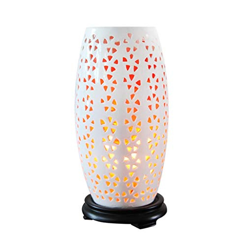 Luminaires & Eclairage/Luminaires intérieur/EC Creative Salt Lamp Chine Nuit Lumière Himalayan Cristal Sel Lampe Chambre Lampe De Chevet Chambre De Mariage Lampe Classique Chinois Dimming Lampe, L