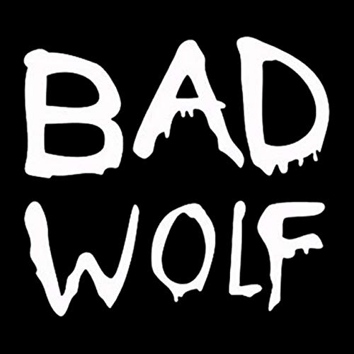 Vinilo Coche Exterior 13cm * 11.5cm Doctor Who Bad Wolf Fashion Styling Car-Vinilo Etiquetas engomadas de Negro/Plata Pegatinas Coche Familia (Color Name : Silver)