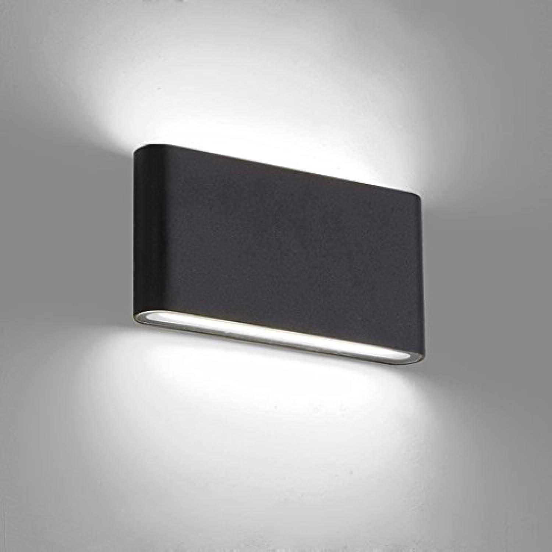 wandlampe LED Wandleuchte Leselampe Outdoor Indoor Universal Wandleuchte nach oben und unten leuchtende wasserdichte Wandleuchte Outdoor Patio Moist Light Aisle Balkon Lampe Nacht Wandleuchte Schlafz
