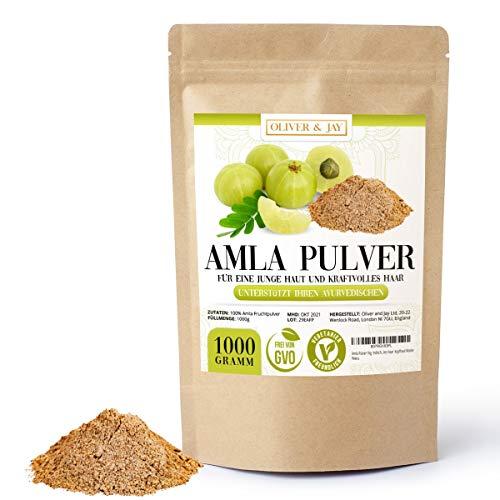 Amla Pulver 1kg │ Indische Stachelbeere │ Amla Amalaki │ Mit Vitamin C für ein starkes Immunsystem │ für eine junge Haut & kraftvolles Haar