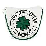 FITYLE Golf mazo Putter Funda de Cubierta de Cabeza de Cuero de la PU de Club de Golf de Cierre magnético - Blanco