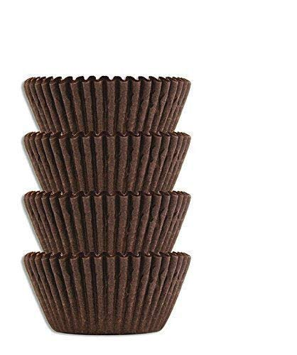 #4 Brown Glassine Paper Candy Cups - Chocolate Peanut Butter Baking Liners (2000)