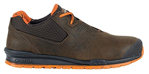 COFRA Moderner Sicherheitshalbschuh GOLEADA S3 SRC im Sneakerlook in Mehreren Farben (43, braun)