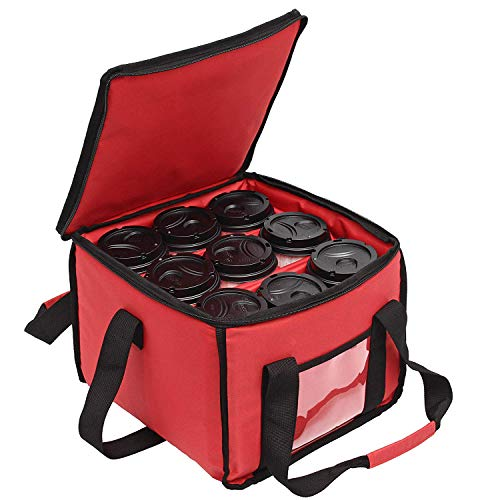 PK-18A: Drink Carrier en voedsel Levering tas met 3 Cup houder tassen houdt maximaal 9 koffiekopjes, Tote Bags, drank levering tassen
