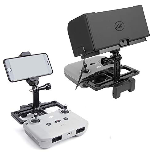Arzroic Phone Holder Mount with Sun Shade Monitor Hood Lanyard Remote Controller Extender Accessories for DJI Air 2S, Mavic Mini 2, Mavic Air 2, Mavic 2 Pro   Zoom, Spark, Not for Ipad   Tablet