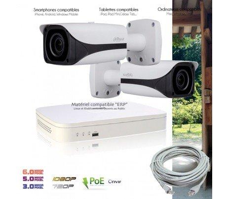 Telecamere videosorveglianza IP–Kit Video Sorveglianza IP PoE con 2telecamere IP esterne–kit-d674–2x D14–Hard disk di 2TB