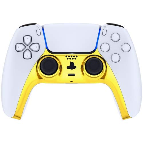 Chrome Gold MZ Smart Rapid Fire Modded Controller compatible with Playstation 5 PS5 for Major Shooter games