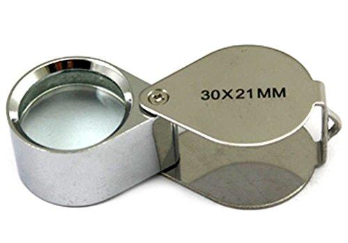 2 Pcs Mini 30X 21mm Jeweler Jeweler's Jewelry Loupe Magnifier