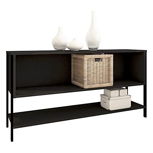 Estante Organizador 2 vistas Modelo 12060 con un cajón fijo reversible y un entrepaño inferior ancho 120 cm, alto 60 cm, texturizado;...