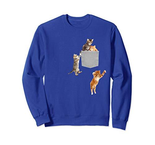 Cute Cats Kittens in your pocket Sweatshirt