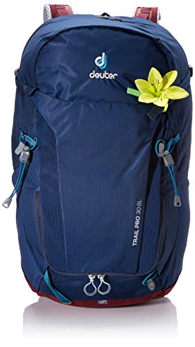 Deuter Women's Trail Pro 30 SL Rucksack, Midnight-Maron, 58 x 32 x 21 cm, 30 L