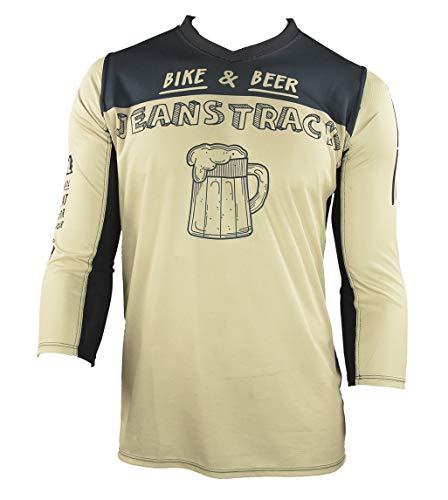 Jeanstrack Bike & Beer Camiseta técnica MTB, Unisex Adu