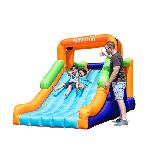 AirMyFun Inflatable Bounce House, Jumping Castle with Long Slide, Inflatable Bouncer with Air...