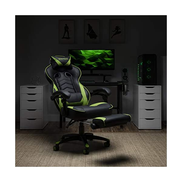Best Gaming Chair with Footrest 2021 Bonded Leather