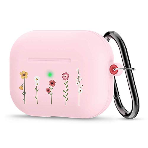 CYRILL Silicone Cecile Designed for Apple Airpods Pro Case (2019) - Flower Garden