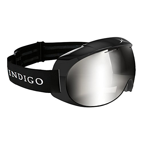 Indigo Voggle Ski-Brille Mirror Chrome Black | Standard Fit